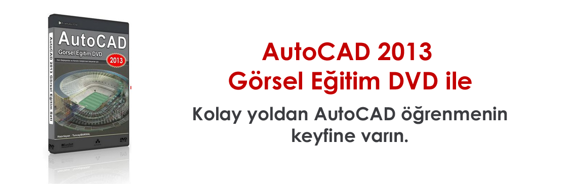 AutoCAD 2013 Eğitim DVD