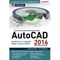AutoCAD 2016 Kitap + Video Eğitim Seti